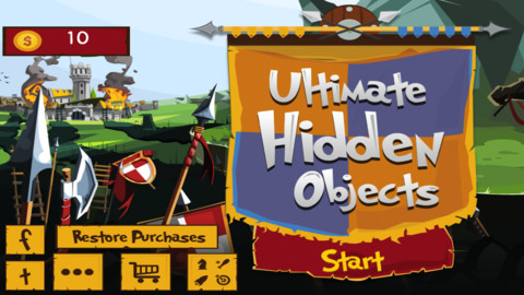 Hidden objects iPhone Application Source Code